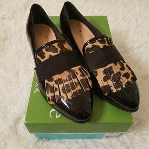 Kate Spade Cayla Fringe Patent Leather Loafer sz8